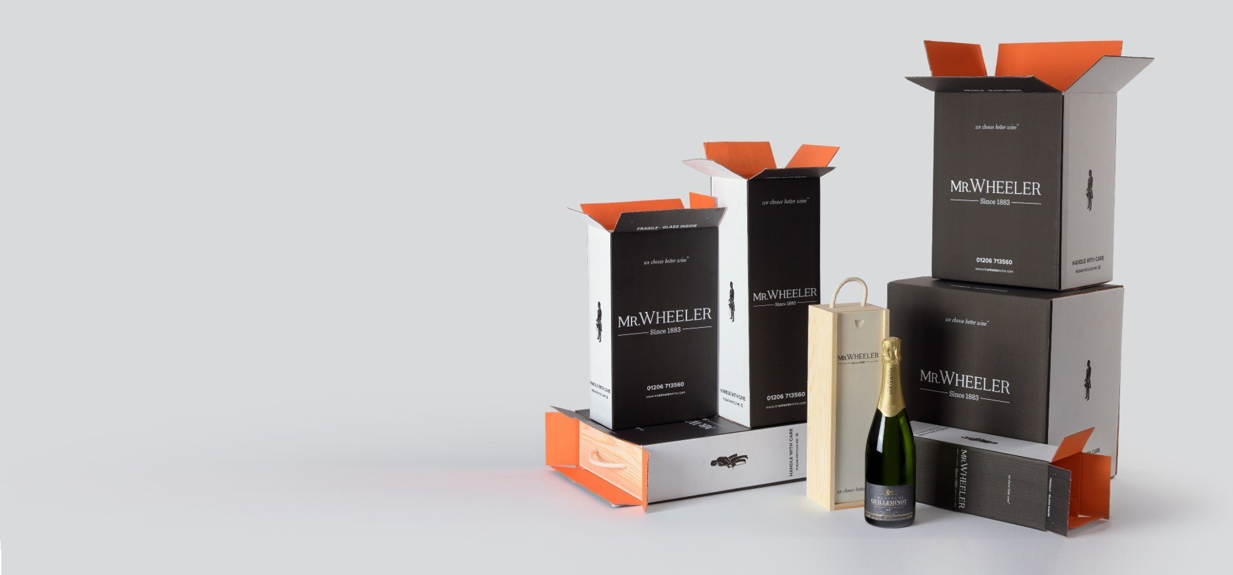 Wine & Champagne Gifts Beautifully boxed gifts delivered direct to your loved ones...